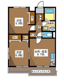 ソレアードコートII2階Fの間取り画像