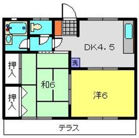 プラムガーデンA1階Fの間取り画像