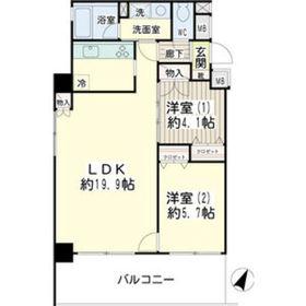 グッドビュー川崎4階Fの間取り画像