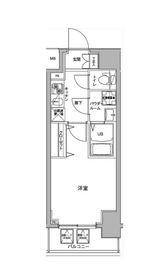 ジェノヴィア川崎駅グリーンヴェール5階Fの間取り画像
