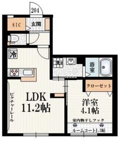 シェモア仙川弐番館2階Fの間取り画像