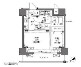 ZOOM横浜5階Fの間取り画像