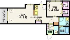 ポルトボヌールコトホギ3階Fの間取り画像