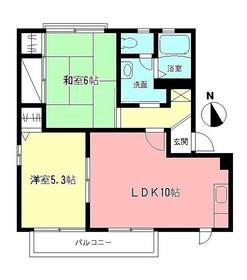 ヴェルドミール壱番館1階Fの間取り画像