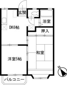 中山駅 バス14分「横丁」徒歩2分2階Fの間取り画像