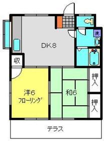 五番館1階Fの間取り画像
