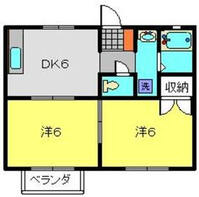 スズキハイム2階Fの間取り画像