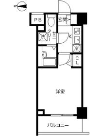 スカイコート川崎西口6階Fの間取り画像