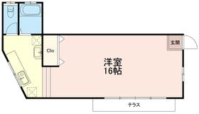 グリーンフォーレスト石川1階Fの間取り画像