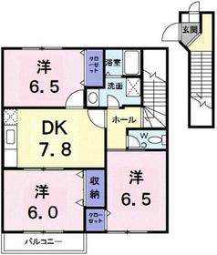 ハイツ武蔵野2階Fの間取り画像