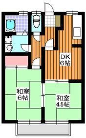 第2日向ハイム2階Fの間取り画像
