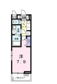 ペタル ドゥ サクラ21階Fの間取り画像