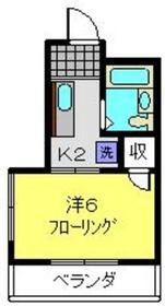 サン・クレール横浜B棟2階Fの間取り画像
