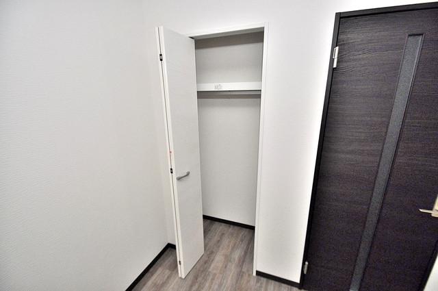 ノイヴェル巽北 もちろん収納スペースも確保。おかげでお部屋の中がスッキリ。