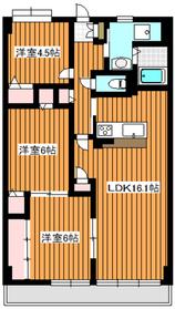 下赤塚駅 徒歩18分3階Fの間取り画像