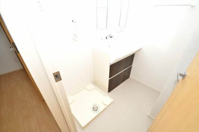 ラヴィエベル 嬉しい室内洗濯機置場。これで洗濯機も長持ちしますね。