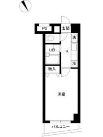 スカイコート文京小石川第33階Fの間取り画像