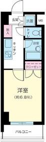 プレール東神田2階Fの間取り画像