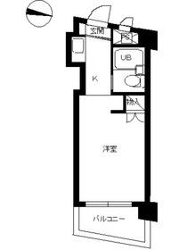 スカイコート西川口第28階Fの間取り画像