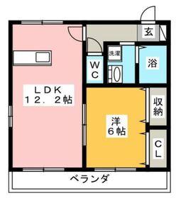 グリーンハウス2階Fの間取り画像