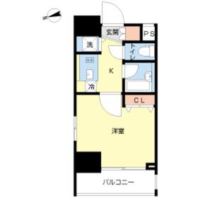 スカイコート新宿落合壱番館9階Fの間取り画像