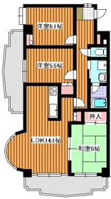 プラザ・サン・タナカ5号館2階Fの間取り画像