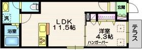 鵜の木駅 徒歩6分1階Fの間取り画像