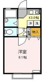 プレジオ桜上水1階Fの間取り画像