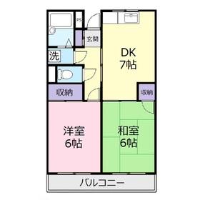 ヴィラヤマダ2階Fの間取り画像