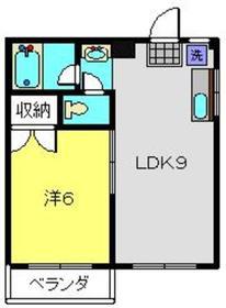 ハイツミヤモト3階Fの間取り画像