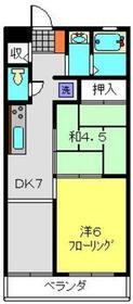 ベステバリーⅠ3階Fの間取り画像