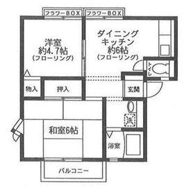 サンライフ岡村B2階Fの間取り画像