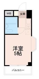 トップ稲城(TOP稲城)4階Fの間取り画像