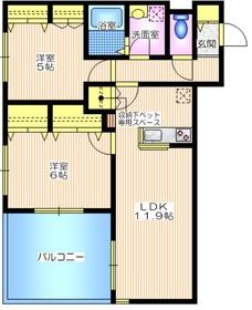 パピヨン 2階Fの間取り画像