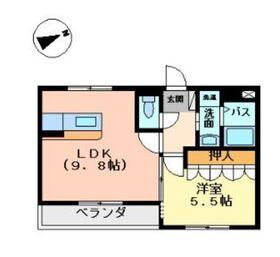 ベルソルト1階Fの間取り画像