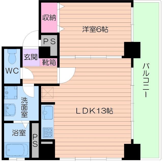 4階の間取り図