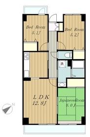 カーラホーチカタノ7階Fの間取り画像