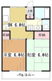 ハイツムウラン1階Fの間取り画像