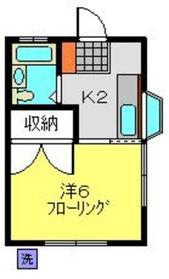 アイハイツ1階Fの間取り画像