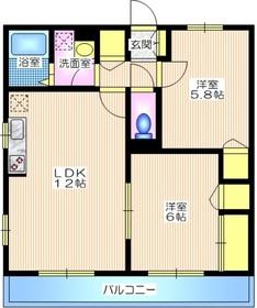 中野島駅 徒歩26分2階Fの間取り画像