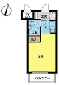 スカイコート高円寺第34階Fの間取り画像