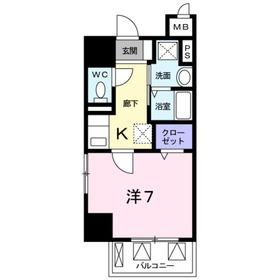 一ノ宮2丁目店舗付マンション8階Fの間取り画像