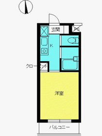 スカイコート高円寺第52階Fの間取り画像