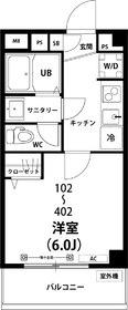 GRAND CLAN浅草2階Fの間取り画像