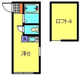 さくら川崎1階Fの間取り画像