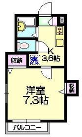 プラティーク・入谷2階Fの間取り画像