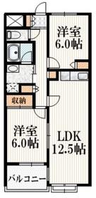 ハイタウン武蔵野4階Fの間取り画像