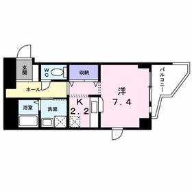 鶴間駅 徒歩30分7階Fの間取り画像