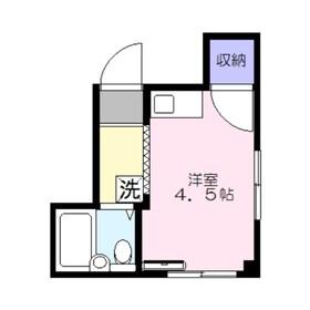 コーポ朝志ヶ丘2階Fの間取り画像