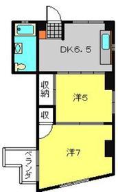 萩霞ビル3階Fの間取り画像
